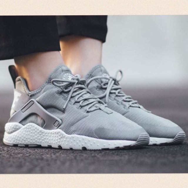 "quality design 6a8f8 a2ffb NIKE AIR HUARACHE RUN ULTRA ""STEALTH GREY"", Women's Fashion on Carousell"