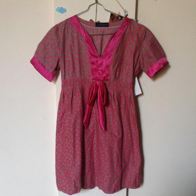 Pink Dress Batik Pekalongan