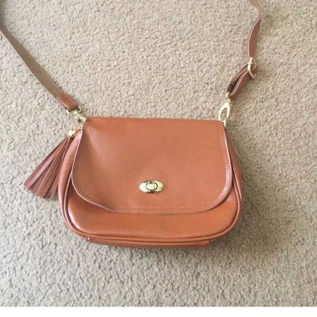 Princess Highway Tan Leather Satchel Bag New With Tags rrp $89