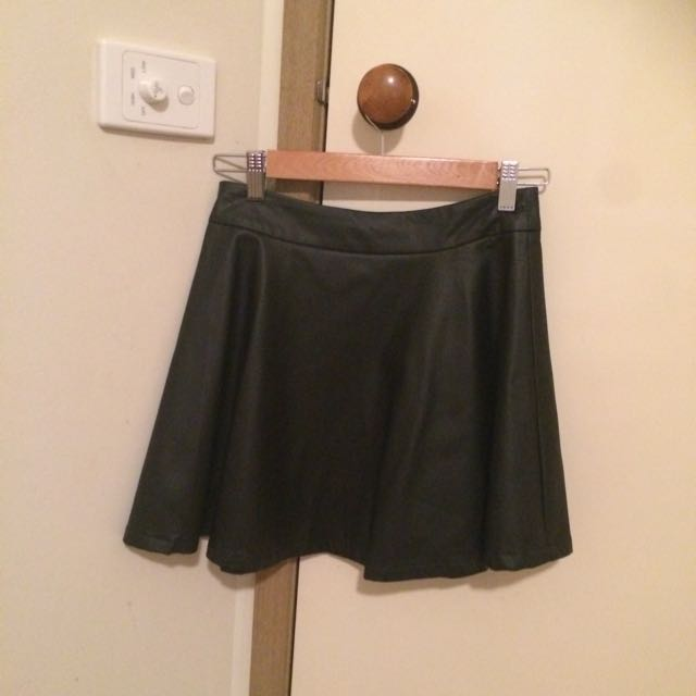PRINCESS POLLY LEATHER LOOK SKIRT