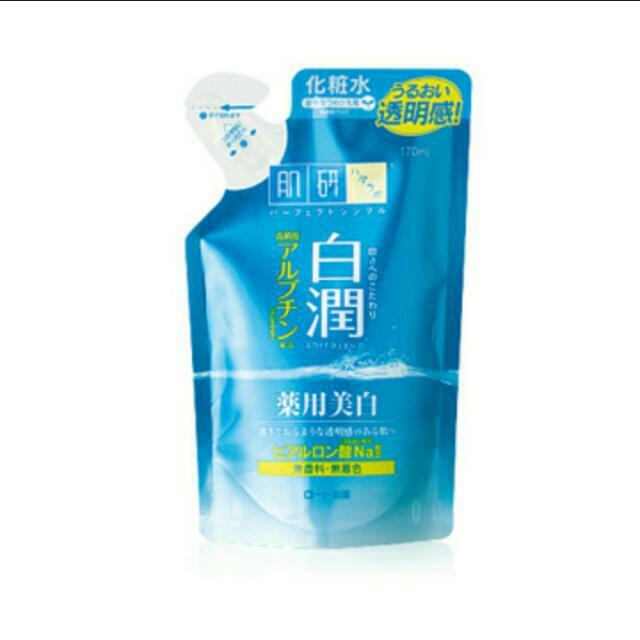 全新日本ROHTO肌研白潤淨白化妝水(清爽) 補充包170ml