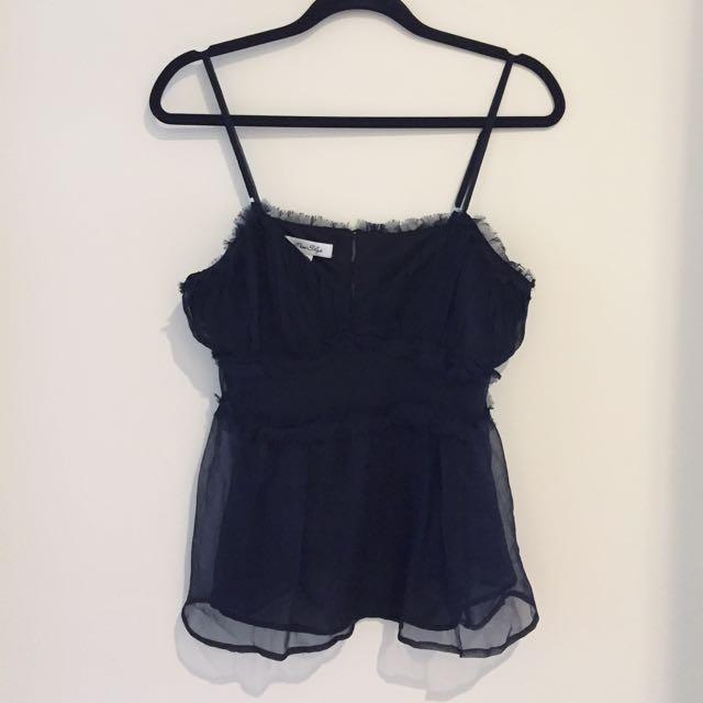 Sheer Delicate Black Camisole