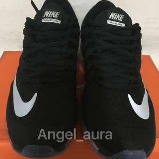 Nike Wmms Air 2016 全掌氣墊 跑鞋 大勾勾 黑色