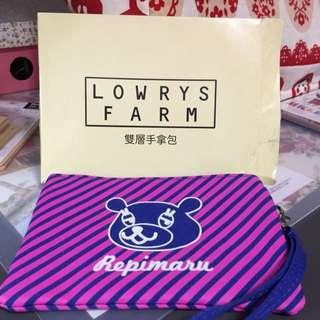萊爾富LOWRYS FARM雙層手拿包(撞色紫)