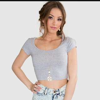 Topshop Grey Crop Top Inspired