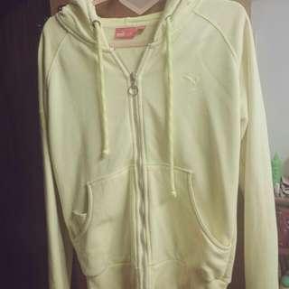 Puma 鵝黃色 運動外套