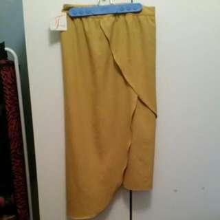 Mustard Skirt Size 10- Brand New