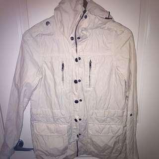French Connection Cream Rain Jacket
