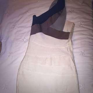 Tiger Mist One Shoulder Bandage Dress