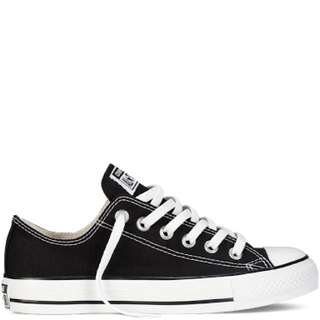 Black Low Top Converse Size 8