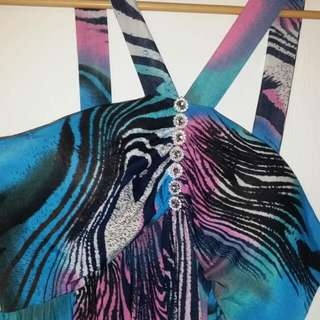 Multi Coloured XL zebra dress