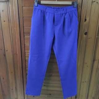保留)Planet寶藍色鬆緊長褲