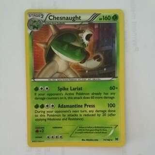 Holo breakthrough Chesnaught Pokemon TCG