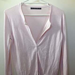 Zara Pink Cardigan (size S)