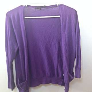 Giordano Purple Cardigan (size S)