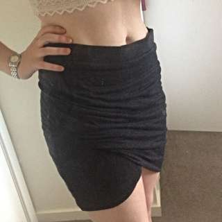 Zara Dark Grey Wrap Bandage Skirt (size L)