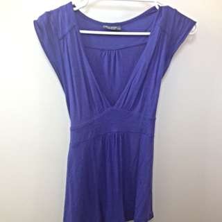 V-neck Blue Shirt (size XS)