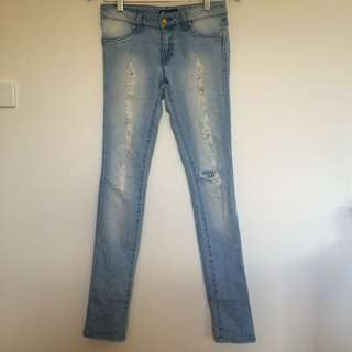 Size 8 Rusty Jeans Distressed