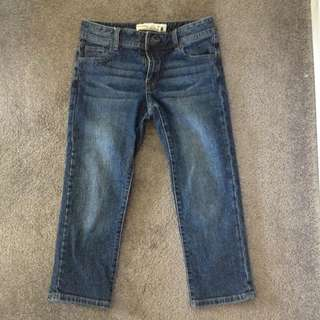 Blue Denim Capris (size 8)