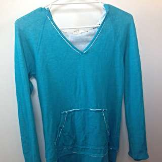 Roxy Blue Hoodie Jumper (size S)