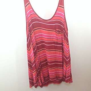 Red And Orange Stripped Singlet (size 8)