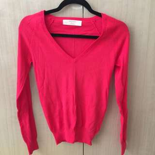 Zara Bright Pink Knit Jumper