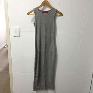 Boohoo Grey Maxi Dress - Size 6