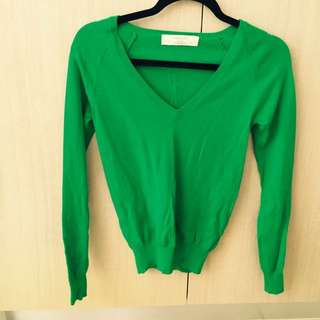Zara Knit Jumper In Bright Grass Green