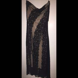 Sheike size 8 strapless dress