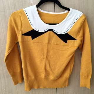 Mustard Yellow Knit Top