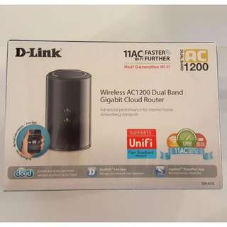 BNIB D-Link DIR-850L AC1200 Wireless Dual Band Gigabit Cloud Router [Meetup at Katong SC only]