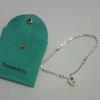 Tiffany and Co 925 Sterling Silver Bracelet With Heart Locket