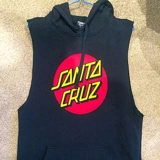 'Santa Cruz' Sleeveless Hoodie Size 12 NEW CONDITION