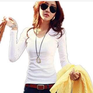 🆕 Cotton White Long Sleeve