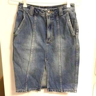 Ksubi High Waist Split Skirt Size 24 /Aus 6