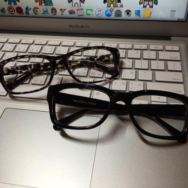 二手)免運)無鏡片眼鏡兩隻