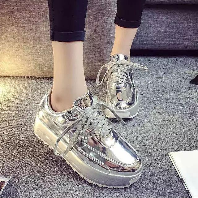 銀色厚底鞋