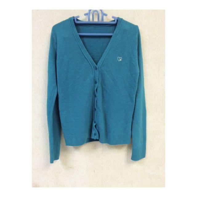 🌺全新飽和土耳其藍針織小外套