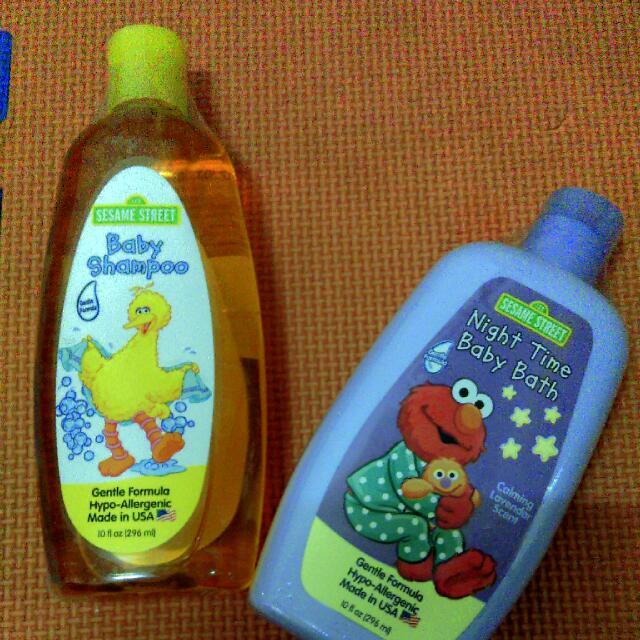 美國製造  芝麻街嬰兒洗髮精.嬰兒沐浴乳