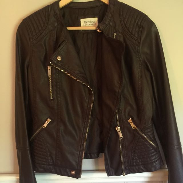 Bershka Brown Pleather Jacket