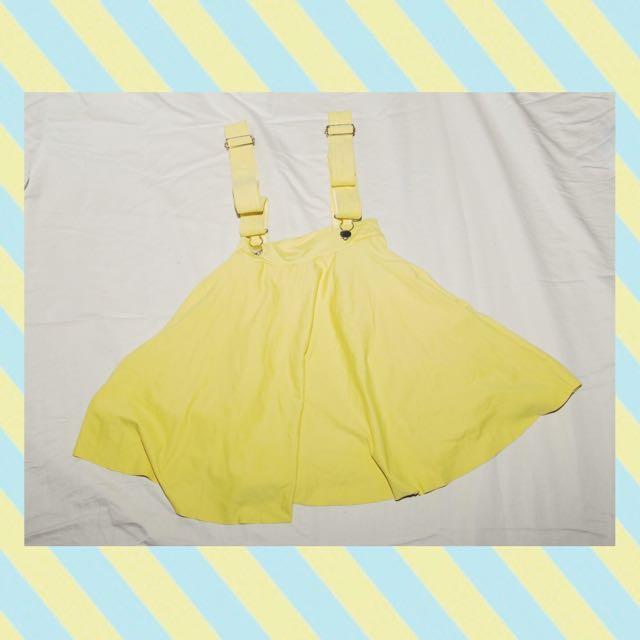 Blackmilk Clothing Yellow Pinafore