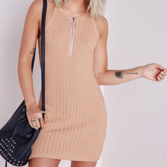 Cute Knitted Zip Dress