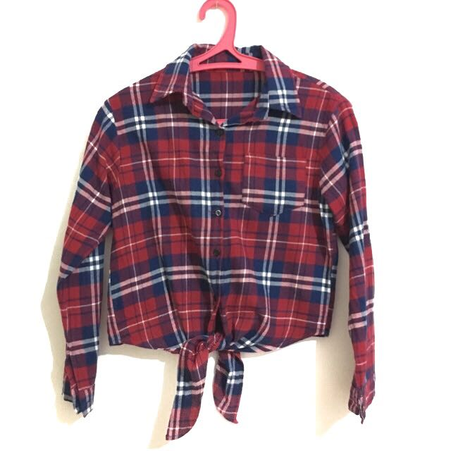 Flannel Crop Top