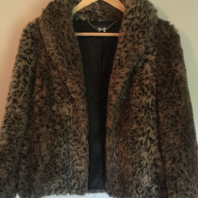 Forever New Faux Fur Coat