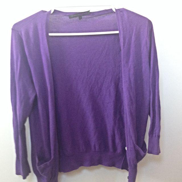 Giordano Purple Cardigan (size S)
