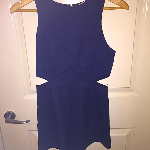 Hello Molly Navy Blue Short Play suit