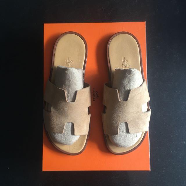 4f05297301e68f Hermes Izmir Mens Sandals Size 41 Beige