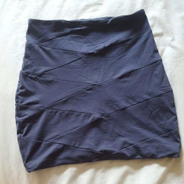 Kookai Mini Bodycon Skirt Navy