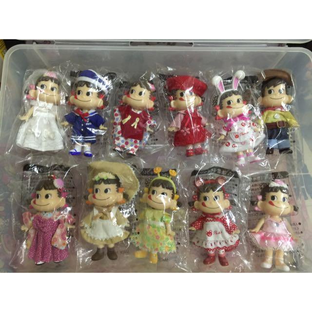 4/2更新(私人收藏)日本不二家Peko牛奶妹 老玩具 老品 收藏家 吊飾 人形玩偶