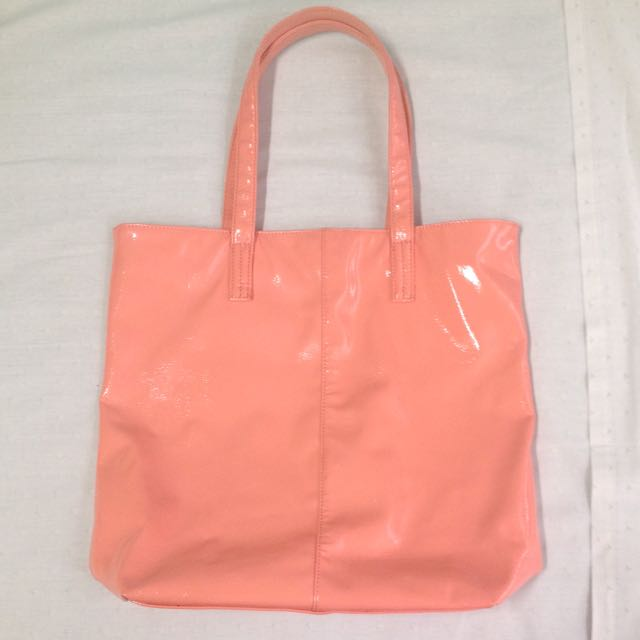 Pink shiny bag